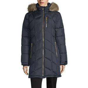 Liz Claiborne Hooded Puffer Coat